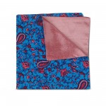 Red Paisley Double-faced Reversible Pocket Square