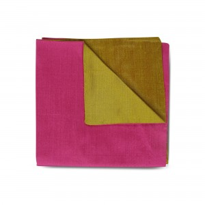 Pink Silk Double-faced Reversible Pocket Square