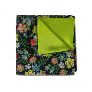 Yellow & Pink Floral Double-faced Reversible Pocket Square