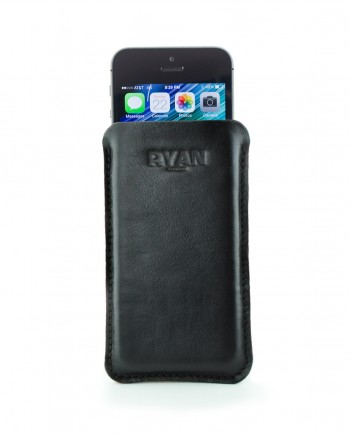 6 PLus Leather Case in Black