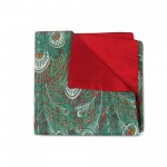 Green Feathers Double-faced Reversible Pocket Square