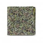 Brown Floral Double-faced Reversible Pocket Square