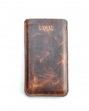 IPHONE 6S LEATHER CASE IN ANTIQUE BROWN-1