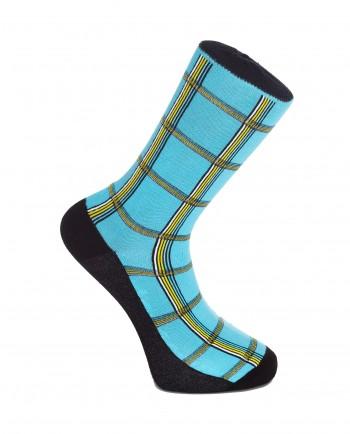 Don't Go Lose It Baby - Shuka Print Blue Socks