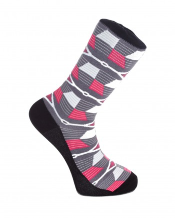 Diamonds - Kente Print Grey Socks