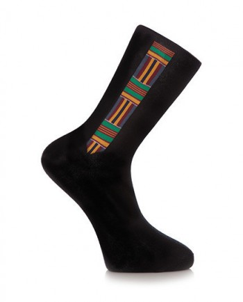 Running Away - Kente Print Black Socks