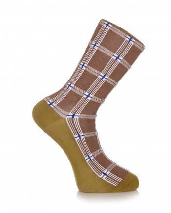 Hit The Road Jack - Shuka Print Brown Socks