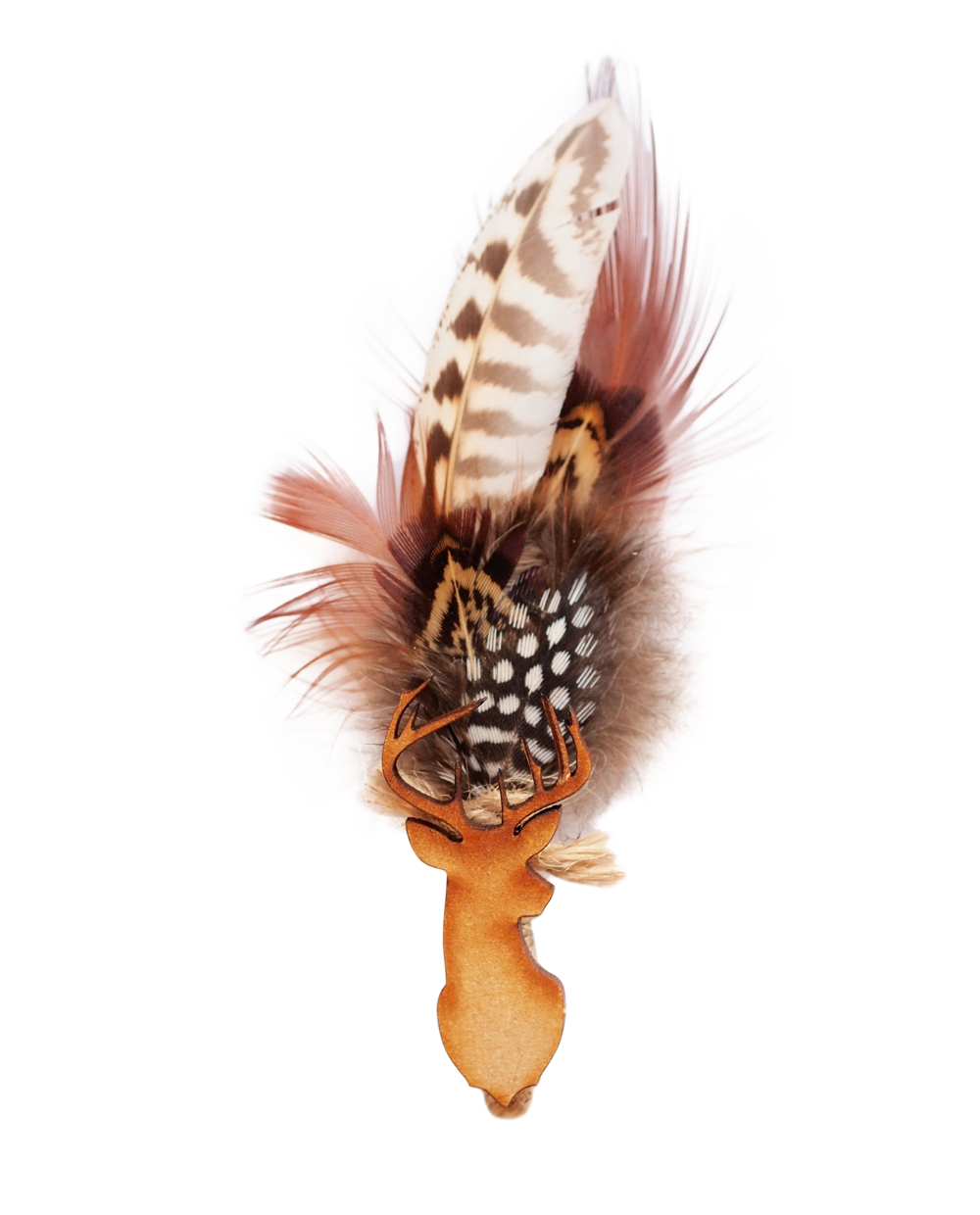 Mr Argus Stag - Game Feather Boutonniere