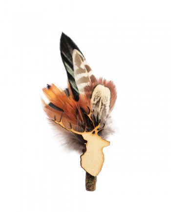 Mr Hume Stag Game Feather Boutonniere