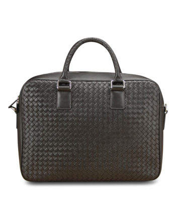 Crawford Woven Briefcase in Coffee