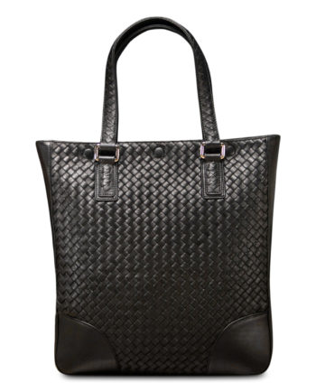 Maxfield Woven Tote Bag in Coffee