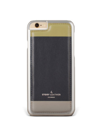 Slate Colours iPhone 6S Leather Phone Cover