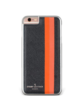 Slate Stripes iPhone 6S Leather Phone Cover