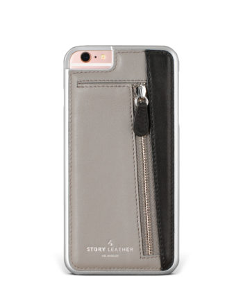 Slate Zippy iPhone 6S Leather Phone Cover